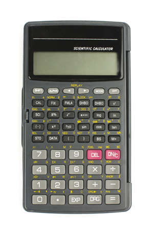 クリッピング パスの分離科学計算用電卓 写真素材