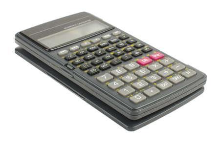 calculadora: Ciencia calculadora aislada en el fondo blanco