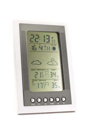 Electronic weather station isolated on the white background