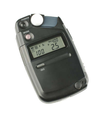 Incident exposure light meter isolated on the white background