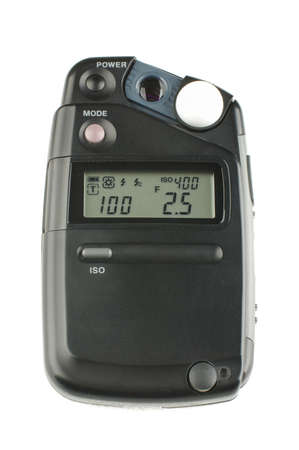 luminous flux: Photography studio exposure meter isolated on the white background