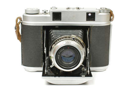 bellows: Old bellows camera isolated on the white background