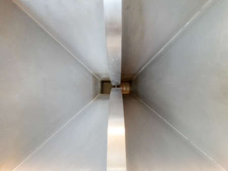 high frequency: Abstract photography of inside pyramidal microwave horn antenna