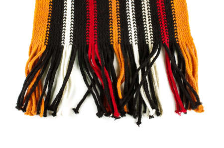 fringes: Abstract scarf fringes close up