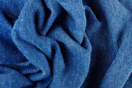 towelling: Abstract artistic background of wrinkled blue towel