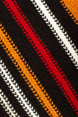 diagonal lines: Diagonal lines of warm scarf detail close up Stock Photo