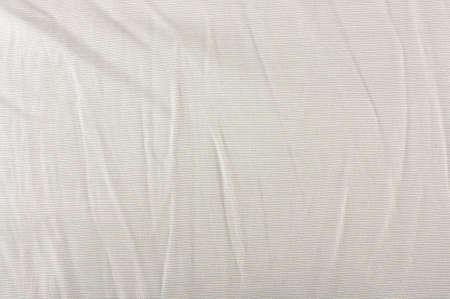 arrugas: Tela de algod�n blanca con arrugas