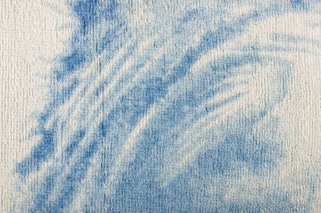 towelling: White blue terry towel surface pattern close up