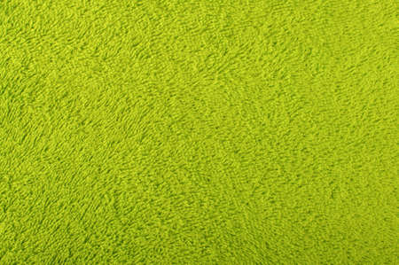 towelling: Green terry towel surface pattern Stock Photo