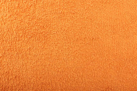 towelling: Orange terry towel surface pattern Stock Photo