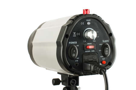 dimmer: Flash studio lighting equipment with controls on the back