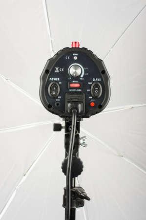strobe: Photography studio power lighting strobe with umbrella