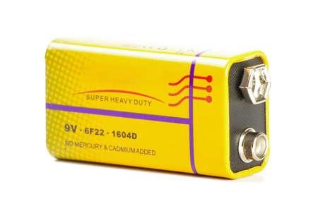 9v battery: 9V 1604D battery isolated on the white background