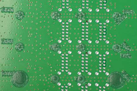 Electronic PCB with peelable solder mask close up