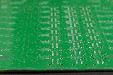 pcb: Electronics PCB low angle view