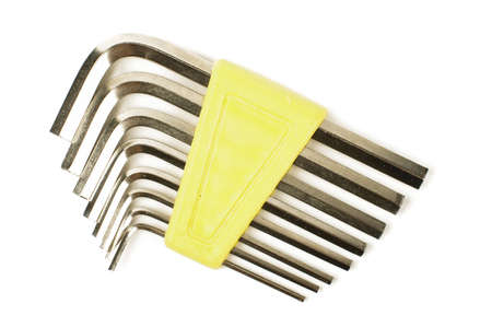 allen wrench: Hexagon allen wrench set isolated on white background