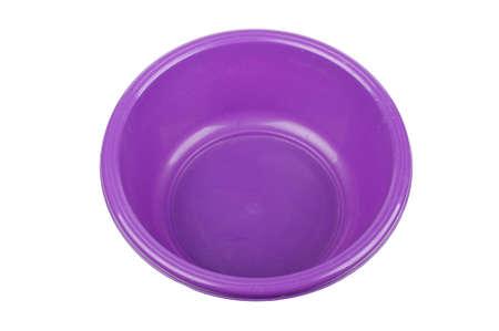 washbowl: Violet bowl isolated on the white background