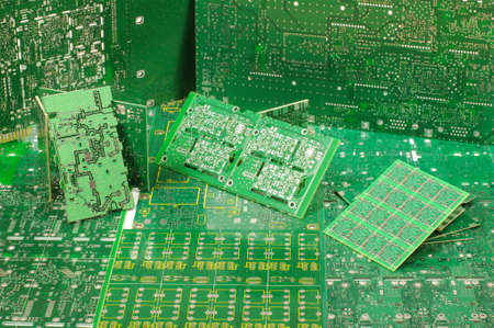 impedance: Abstract photography of different various PCBs