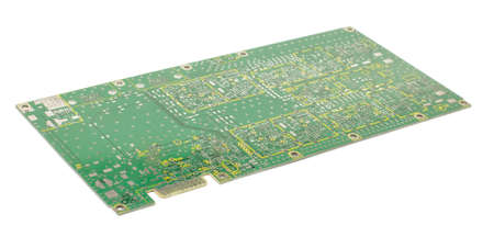 pcb: Empty PCB isolated on the white background Stock Photo