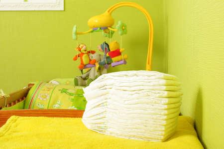 nappies: Folded nappies