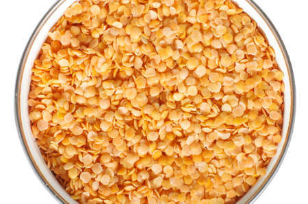 breackfast: Red lentils in the pot abstract