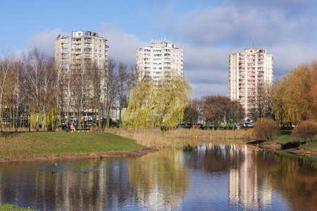 kaunas: Kalnieciai Park in Kaunas Lithuania