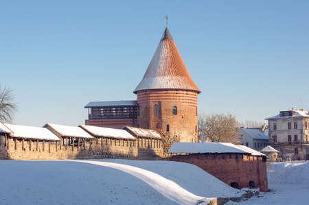 kaunas: Kaunas castle in Kaunas Lithuania wintertime