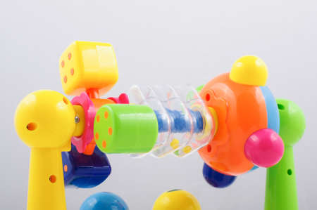developmental: Colorful plastic carousel isolated on the white background