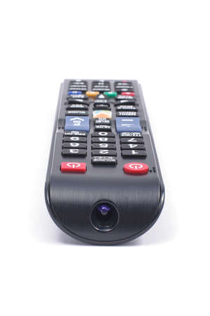 television remote: Television remote control isolated on the white background Stock Photo