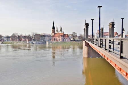 kaunas: Nemunas flood during spring in Kaunas Lithuania