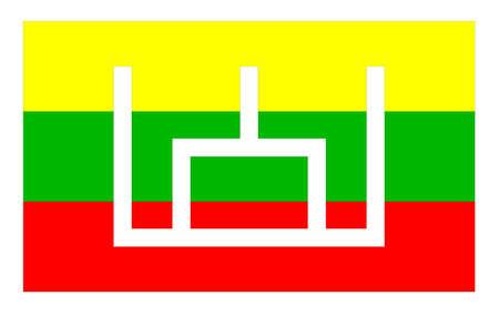 lithuania flag: Lithuania flag with Pillars of Gediminids