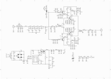 electronic: Electronic circuit schematic radio frequency amplifier
