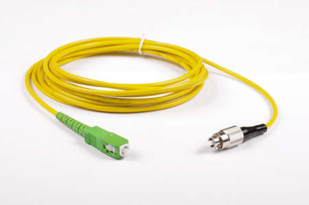 fiber optic cable: Fiber optic cable isolated on the white background