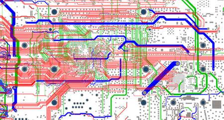 電子埋め込まれたシステム設計プロセスの PCB レイアウトのルーティング