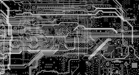 Elektronische Embedded-System-Design-Prozess PCB-Layout-Routing Standard-Bild - 52671448