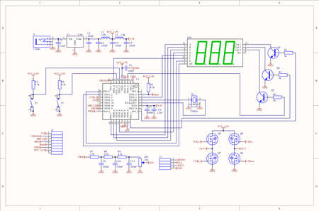 schematic: Electronic circuit schematic of embedded system Stock Photo
