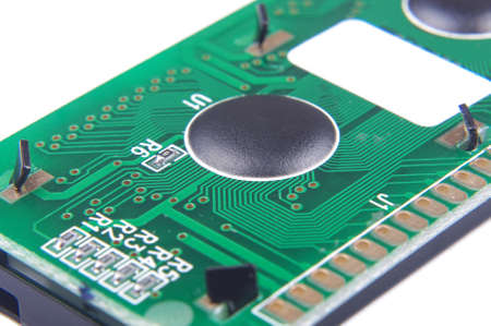 layer mask: Chip-on-board electronic PCB technology close up