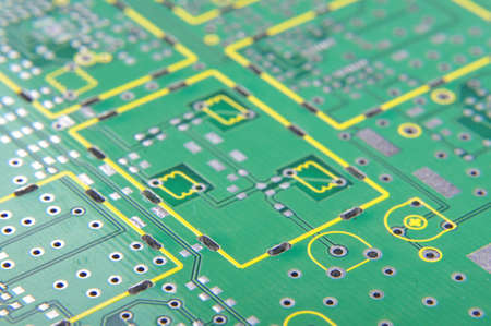Abstract PCB fragment with silkscreen layer