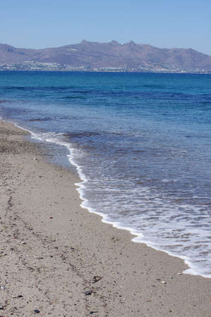 kos: Summer beach scene in Kos island, Greece Stock Photo