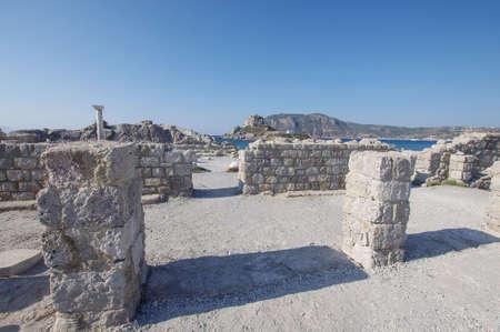 church ruins: 4th century church ruins in Kefalos, Kos island, Greece Stock Photo