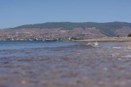 kos: Beautiful beach and Kos town, Kos island, Greece