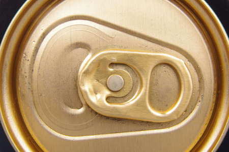 tab: Macro view of beer can tab Stock Photo