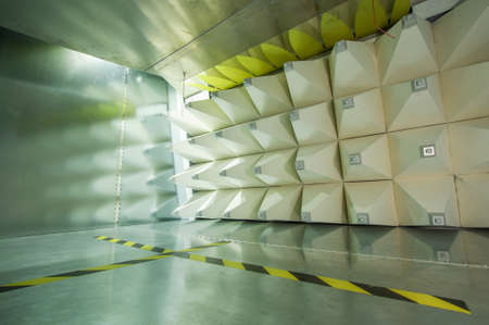 electromagnetic: Interior of GTEM cell for electromagnetic compatibility testing