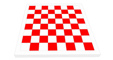 tablero de ajedrez: tablero de ajedrez 3D aislado en el fondo blanco Foto de archivo