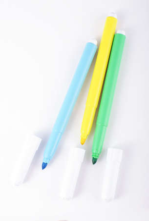 Modern coloring marker pens Stock Photo