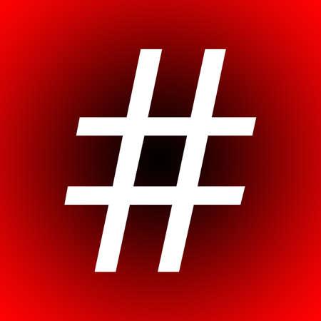 metadata: Hashtag popular online symbol for easier searching Stock Photo