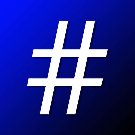 metadata: Hashtag popular online symbol for easier searching Stock Photo