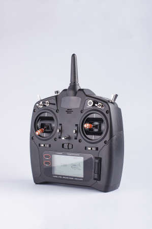 avionics: Drone telemetry system isolated on the gray background