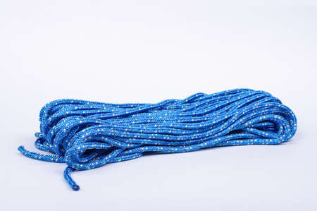 Blue rope isolated