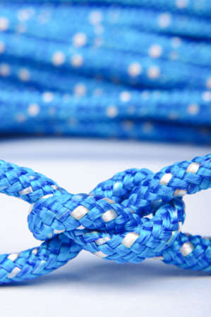 Blue rope knot isolated